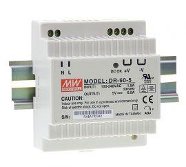 Tápegység Mean Well DR-60-5 60W/5V/0-6,5A