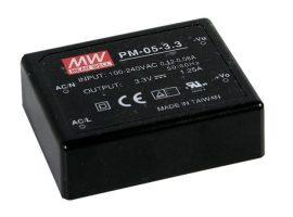 Tápegység Mean Well PM-05-3.3 5W/3,3V/0-1,25A